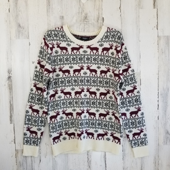 Forever 21 Other - Forever 21 Reindeer Winter Snowflake Sweater